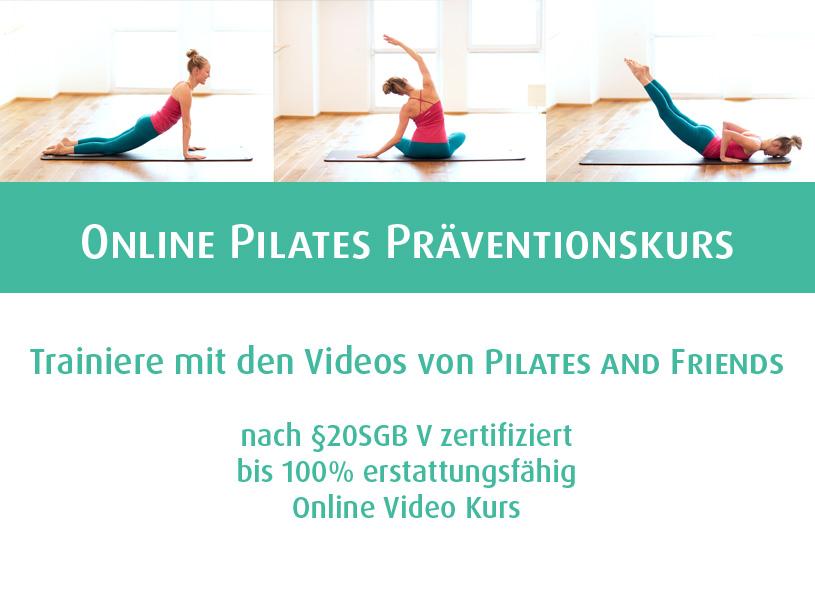 Online Pilates Präventionskurs - bis 100% erstattungsfähig