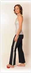 Attraktive und lockere Füße Pilates Übung