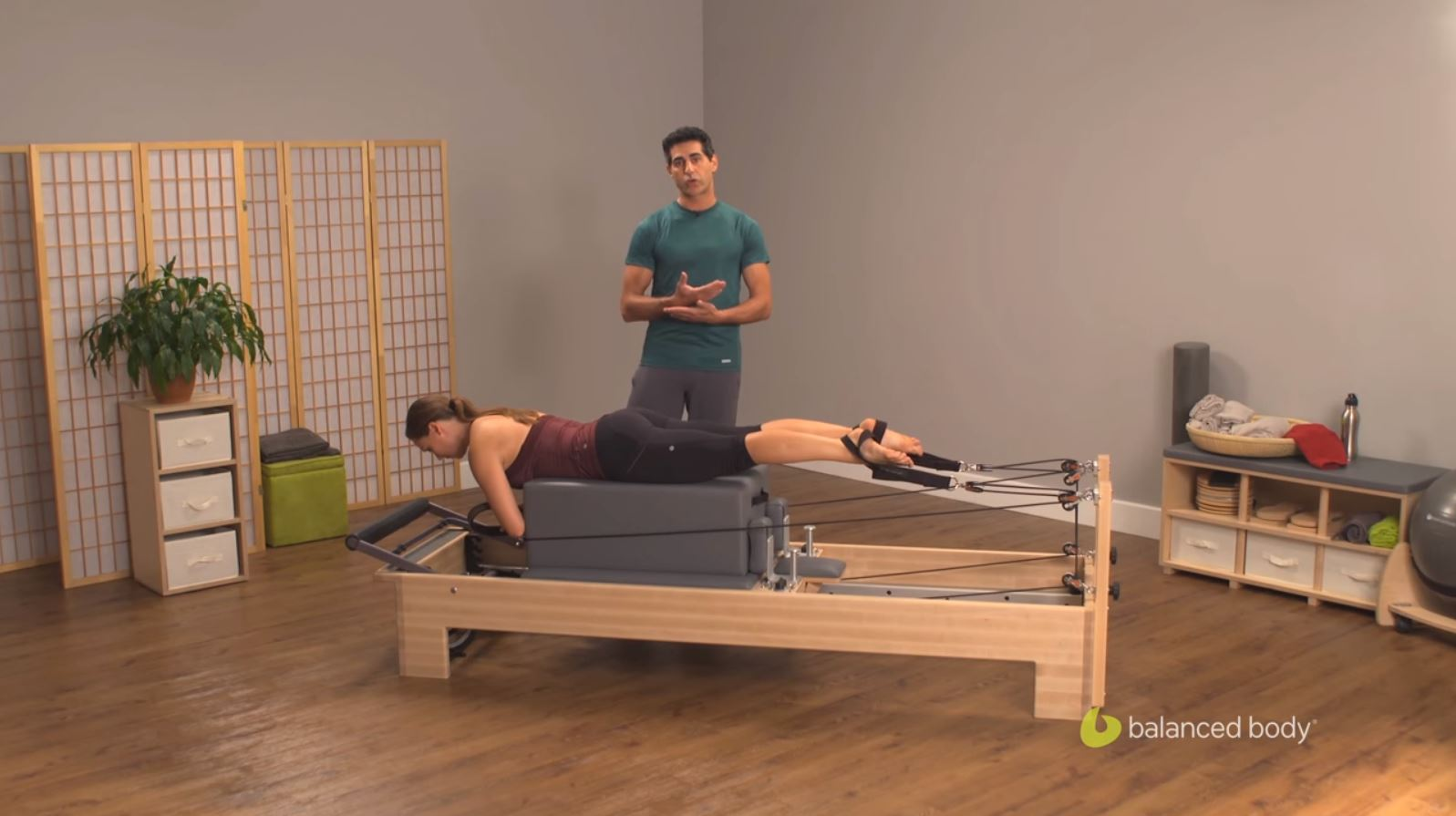 Konnector™: Reformer Work Using Sitting Box