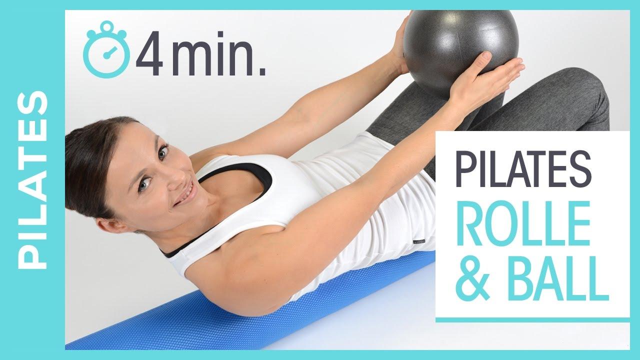 SISSEL PILATES ROLLE UND BALL | Bauch Routine für Fortgeschrittene