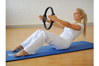 Pilates Stay@home Trainingskit, medium, grau