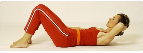 Corsage Pilates Übung