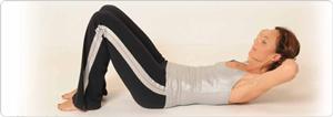 Curl-Ups Pilates Übung