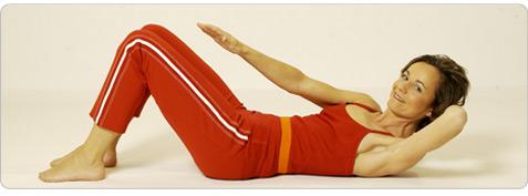 Diagonale Corsage Pilates Übung