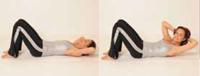 Oblique Curl-Ups Pilates Übung